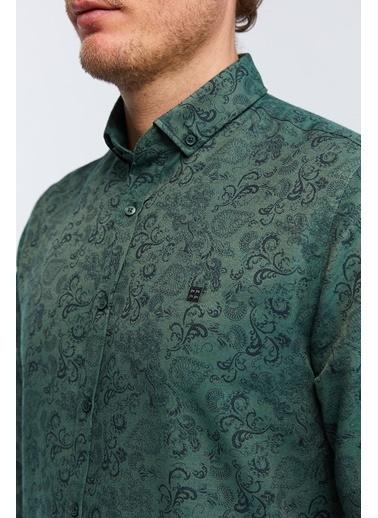 Avva Desenli Gömlek Yeşil